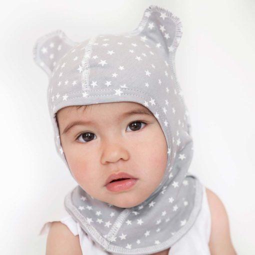 Cagoule bébé coton bio