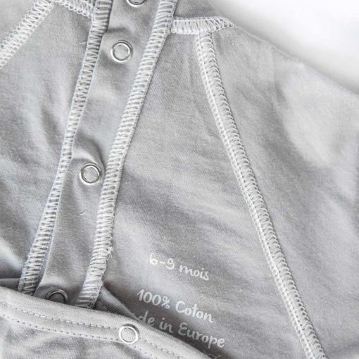 pyjama anti-grattouille cocooning 100% coton Gots avec moufles