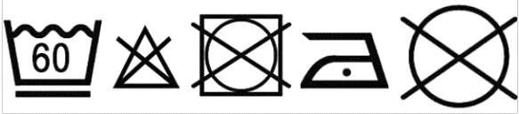 Logo Etiquette lavage vêtements Maluna eczema