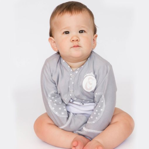 baby and childjacket with mittens cotton bio against eczema